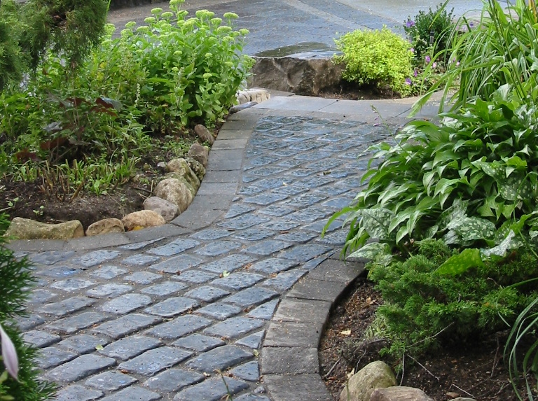 Cobblestone Stone Leave : Cobble stone walkway northland paving toronto